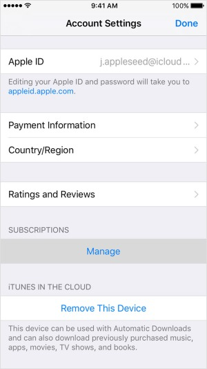ios10-iphone6-settings-itunes-app-store-account-settings-manage-ontap